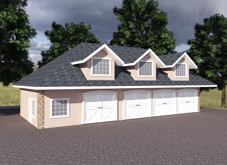 Traditional Garage Plan 85203 Elevation