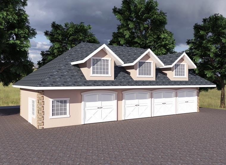 Traditional Garage Plan 85203 Elevation