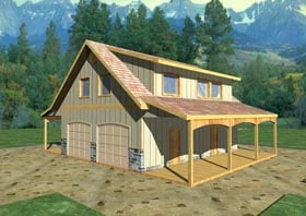 Country Southern Garage Plan 85207 Elevation