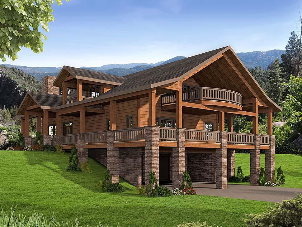 Craftsman House Plan 85208 with 3 Beds, 3 Baths, 2 Car Garage