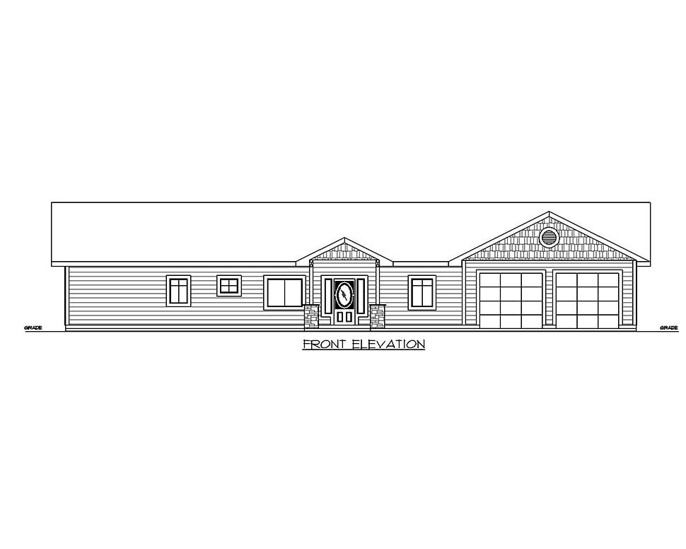 Craftsman, Ranch, Traditional House Plan 85210 with 2 Beds, 2 Baths, 2 Car Garage Picture 1