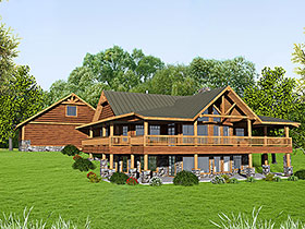 Craftsman House Plan 85212 with 2 Beds, 3 Baths, 3 Car Garage Elevation