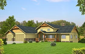 Craftsman Traditional Tudor House Plan 85215 Elevation