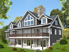 Contemporary Traditional House Plan 85216 Elevation