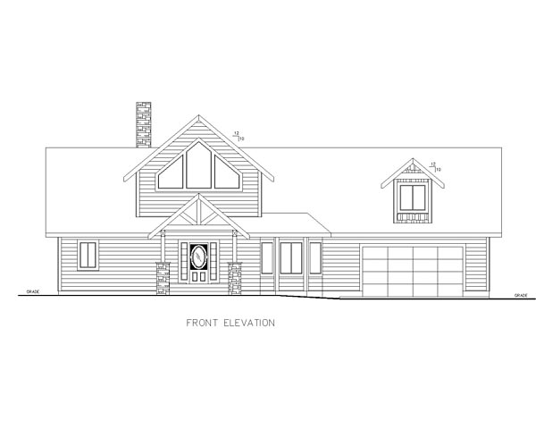Contemporary Traditional House Plan 85216 Rear Elevation
