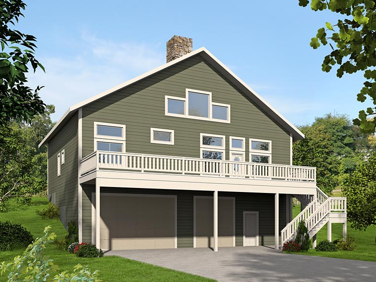 Contemporary, Traditional House Plan 85218 with 3 Beds, 3 Baths, 3 Car Garage Elevation