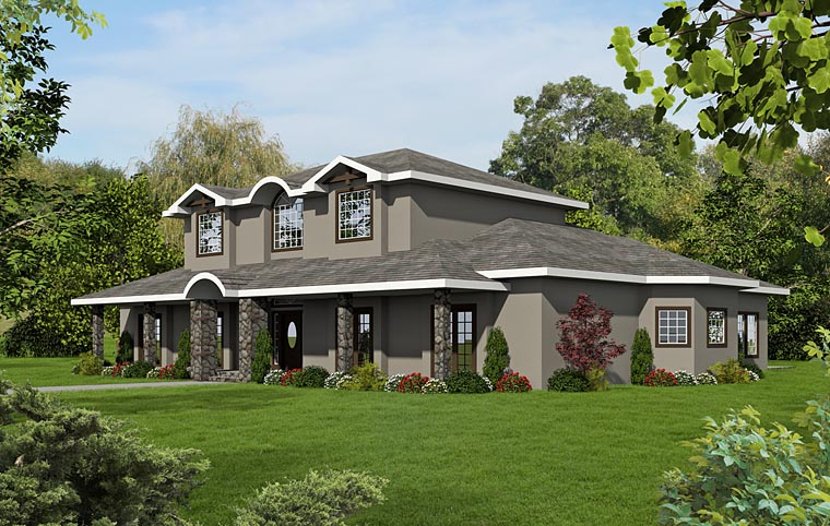 European Traditional House Plan 85220 Elevation