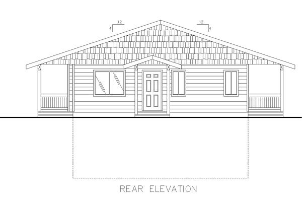 Contemporary House Plan 85222 Rear Elevation