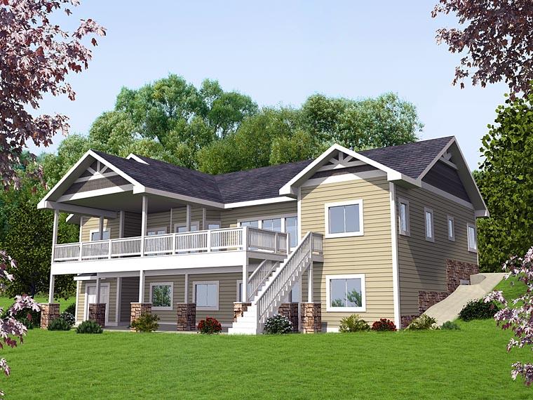 Craftsman Traditional House Plan 85224 Elevation