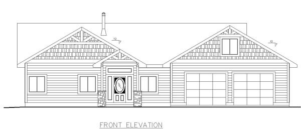 Craftsman Traditional House Plan 85224 Rear Elevation