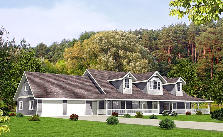 Country, Southern House Plan 85225 with 4 Beds, 5 Baths, 3 Car Garage Elevation