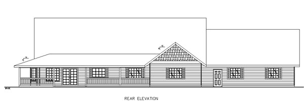 Country Southern House Plan 85225 Rear Elevation