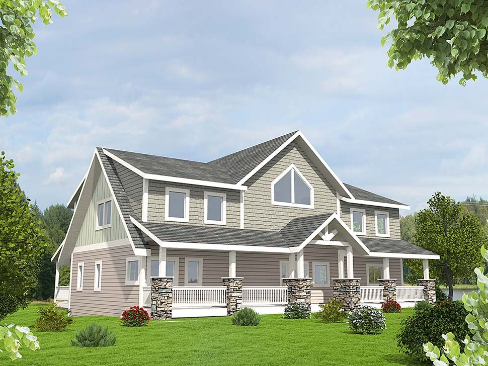 Craftsman House Plan 85226 with 3 Beds, 3 Baths, 2 Car Garage Elevation