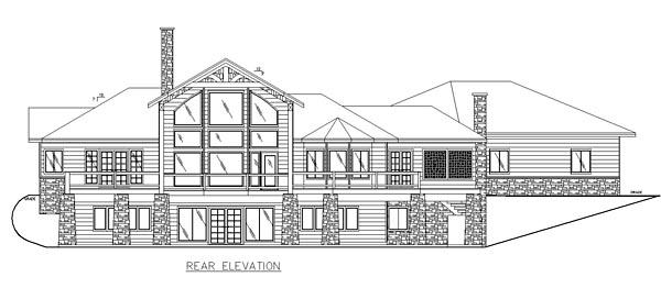 Contemporary Craftsman European House Plan 85227 Rear Elevation