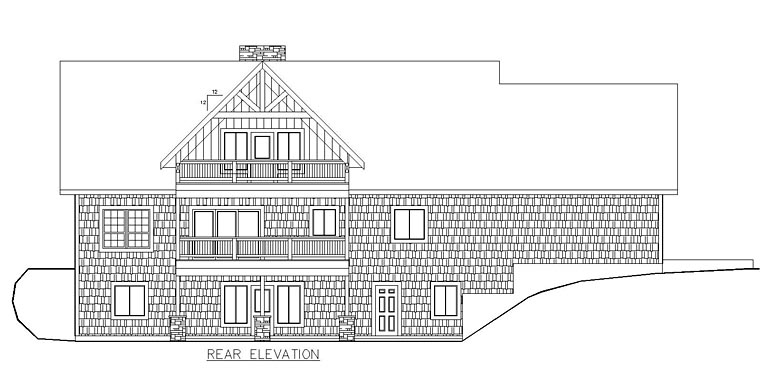 Contemporary , Traditional House Plan 85228 with 6 Beds, 4 Baths, 2 Car Garage Rear Elevation