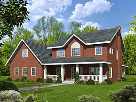 House Plan 85229 | Colonial Country Traditional Style Plan with 2760 Sq Ft, 3 Bedrooms, 3 Bathrooms, 3 Car Garage Elevation