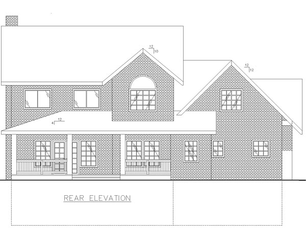House Plan 85229 | Colonial Country Traditional Style Plan with 2760 Sq Ft, 3 Bedrooms, 3 Bathrooms, 3 Car Garage Rear Elevation