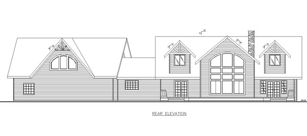 Country Craftsman Southern House Plan 85231 Rear Elevation