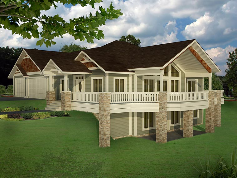 House plan 85235 at for 2500 sq ft house plans with walkout basement