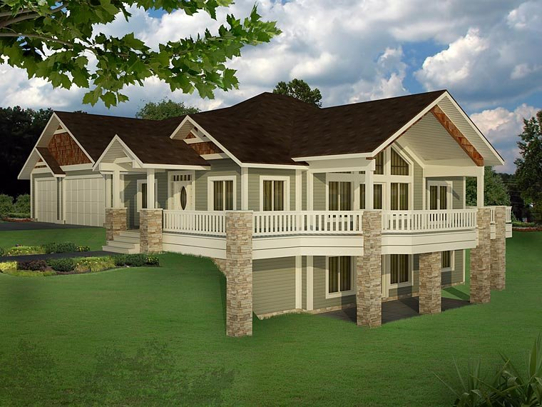 Bungalow Contemporary Craftsman Traditional House Plan 85235 Elevation