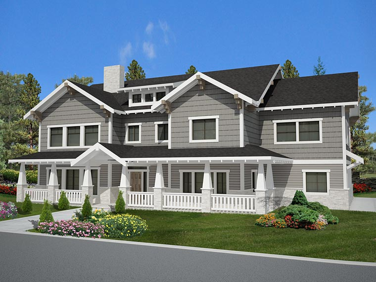 Bungalow Country Craftsman Traditional House Plan 85238 Elevation
