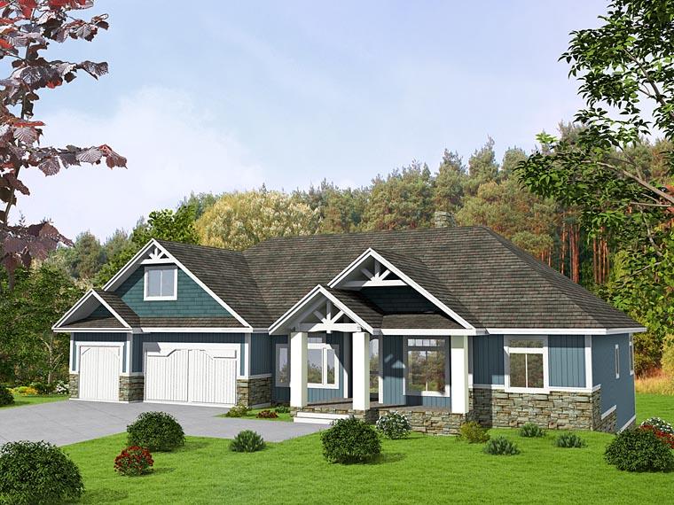 Craftsman Traditional Tudor House Plan 85239 Elevation