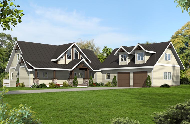 Country, Traditional, Tudor House Plan 85241 with 3 Beds, 4 Baths, 2 Car Garage Elevation