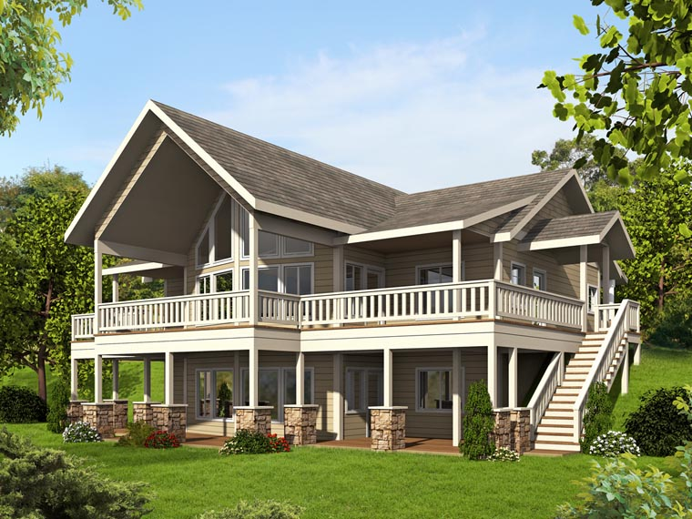 Bungalow Contemporary Cottage Traditional House Plan 85242 Elevation
