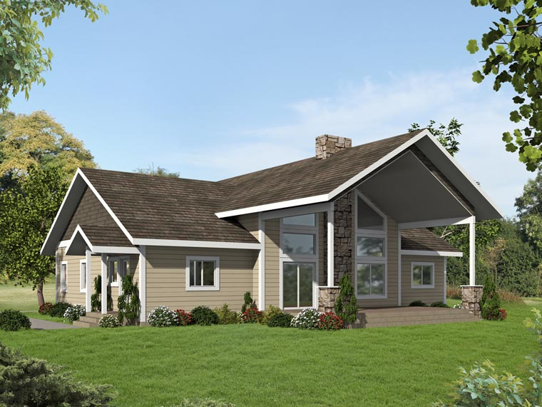 Contemporary Country Craftsman Elevation of Plan 85243