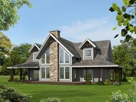 Contemporary Country Southern House Plan 85244 Elevation