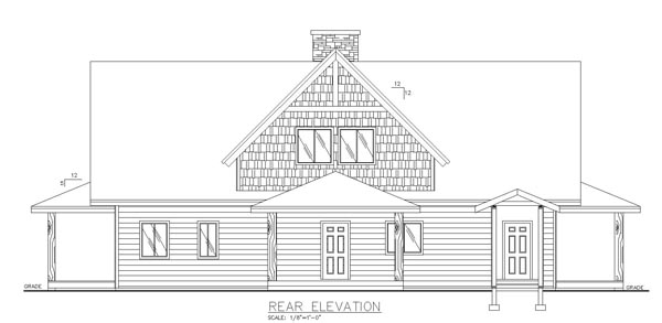 Contemporary Country Southern House Plan 85244 Rear Elevation