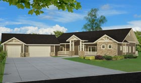 Country Craftsman Traditional House Plan 85246 Elevation