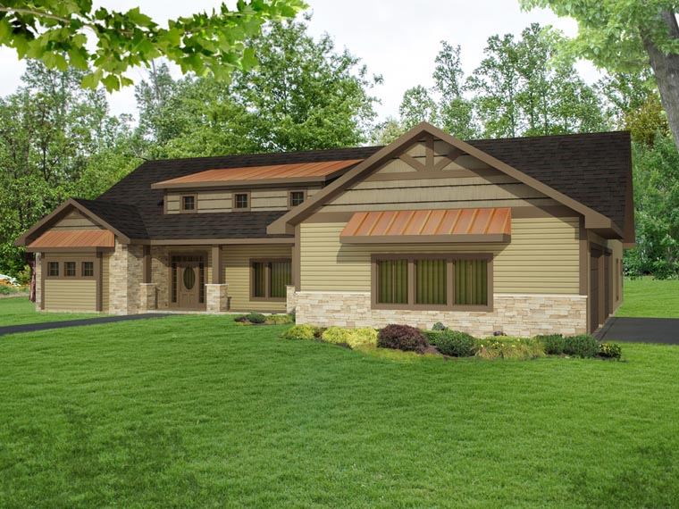 Contemporary Craftsman Tudor House Plan 85247 Elevation