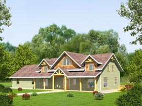 Country Craftsman Traditional House Plan 85248 Elevation