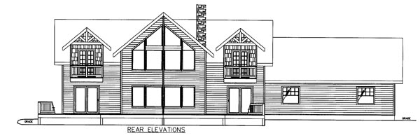 Country Craftsman Traditional House Plan 85248 Rear Elevation
