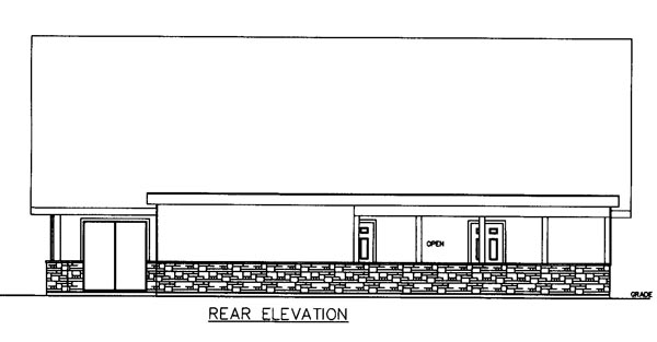 Cabin Country Ranch House Plan 85249 Rear Elevation