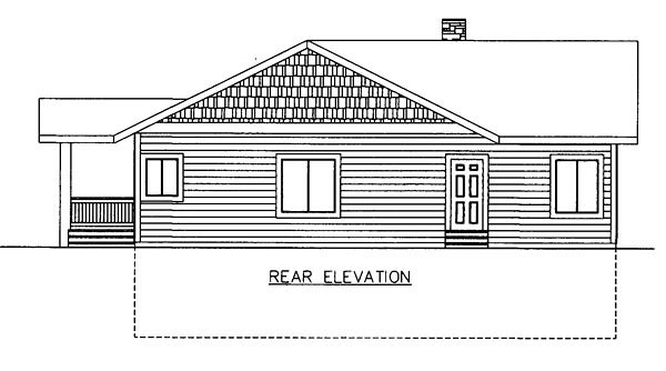 Contemporary House Plan 85251 Rear Elevation