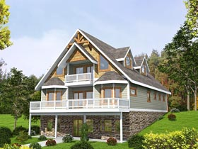 Contemporary , Craftsman , Traditional House Plan 85252 with 3 Beds, 4 Baths, 2 Car Garage Elevation