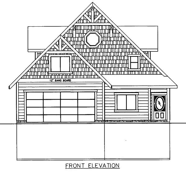 Contemporary, Craftsman, Traditional House Plan 85252 with 3 Beds, 4 Baths, 2 Car Garage Rear Elevation
