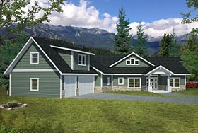 Contemporary Craftsman Traditional House Plan 85254 Elevation