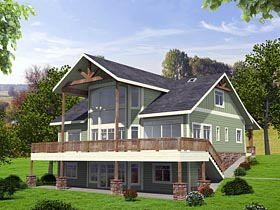 Contemporary Country Craftsman House Plan 85256 Elevation