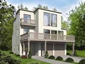Contemporary Modern House Plan 85258 Elevation