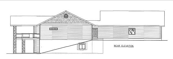 Country Traditional House Plan 85259 Rear Elevation