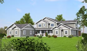 Bungalow Craftsman Traditional House Plan 85261 Elevation