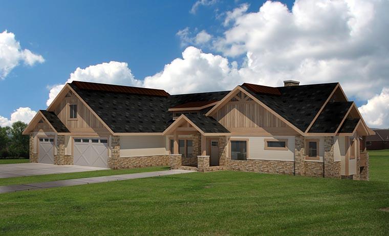 Craftsman Tudor House Plan 85262 Elevation
