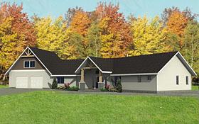 Craftsman Traditional House Plan 85264 Elevation