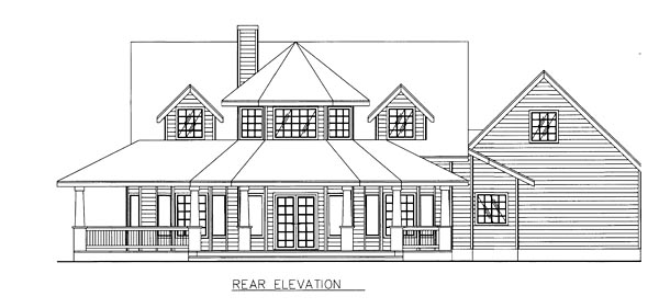 Country Farmhouse Southern Victorian House Plan 85268 Rear Elevation