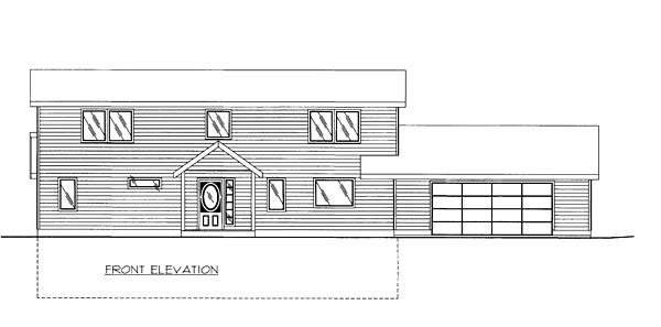 Coastal Colonial Contemporary House Plan 85269 Rear Elevation