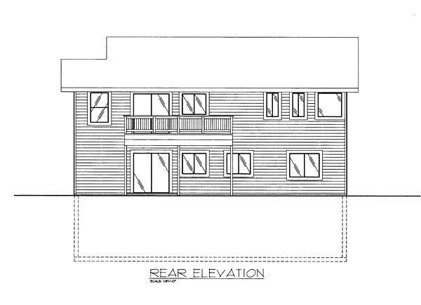 Colonial Traditional House Plan 85271 Rear Elevation