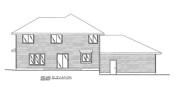 Contemporary European House Plan 85272 Rear Elevation
